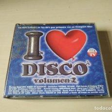 CD de Música: I LOVE DISCO VOLUMEN 2. BLANCO Y NEGRO. 3CDS. RECOPILATORIO. Lote 206299016