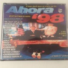 CDs de Música: AHORA 98 - 4CD GALA NATASCHA HAGEN SASH LUTRICIA MCNEAL NEWTON QUICKSILVER MONICA NARANJO PARADISIO. Lote 206319926