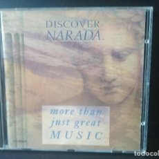CDs de Música: DISCOVER NARADA - MORE THAN JUST GREAT MUSIC 1992 CD ALBUM PROMO. Lote 206377162