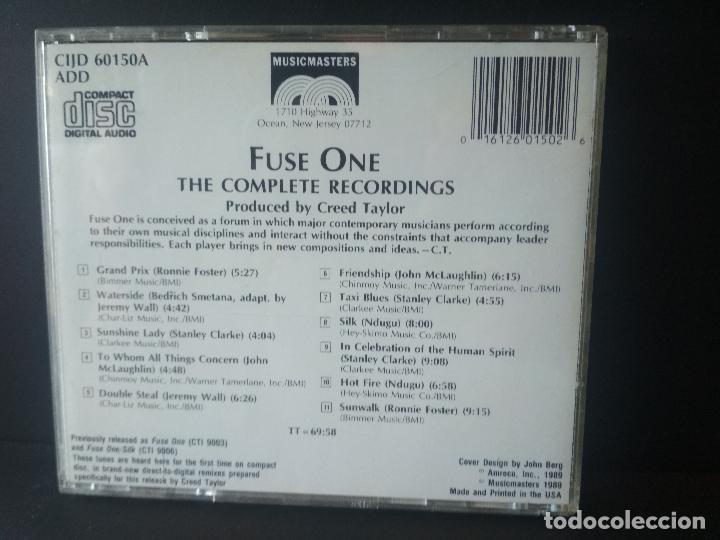 CDs de Música: FUSE ONE THE COMPLETE RECORDING GEORGE BENSON , TONY WILLIAMS , ERIC GALE CD ALBUM - Foto 2 - 206377808
