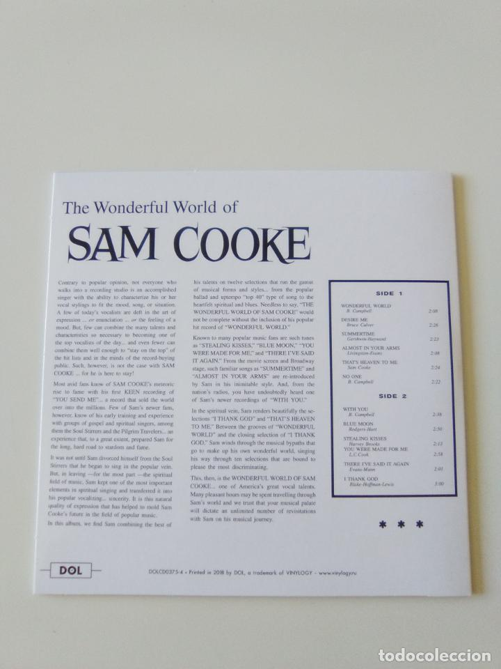 CDs de Música: SAM COOKE The wonderful world ( 1960 DOL 2019 ) FUNDA CARTON REPLICA DISCO ORIGINAL - Foto 2 - 206382938