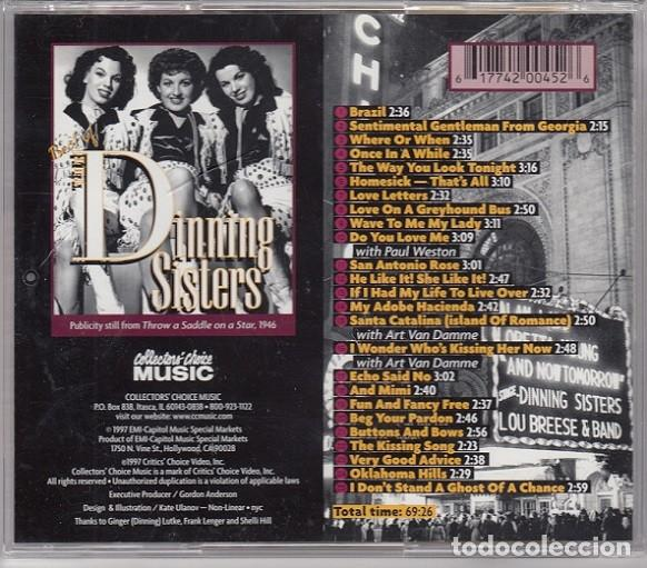 CDs de Música: THE DINNING SISTERS - THE BEST OF THE DINNING SISTERS - CD - SWING GRUPO VOCAL - TIPO ANDREW SISTERS - Foto 2 - 206388595