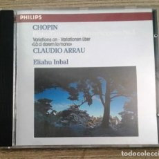 CDs de Música: CHOPIN - PIANO CONCERTO Nº 1 - CLAUDIO ARRAU. Lote 206389368