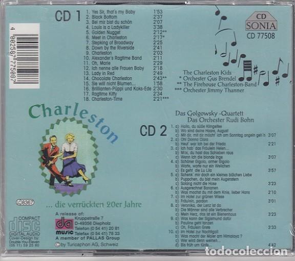 CDs de Música: DAN GOLGOWSKY QUARTET CON LA ORQUESTA DE RUDY BOHN - CHARLESTON - DOBLE CD NUEVO PRECINTADO - Foto 2 - 206389987