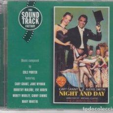 CDs de Música: COLE PORTER NOCHE Y DIA - NIGHT AND DAY - BANDA SONORA ORIGINAL DE LA PELICULA - CD NUEVO PRECINTADO. Lote 206390581