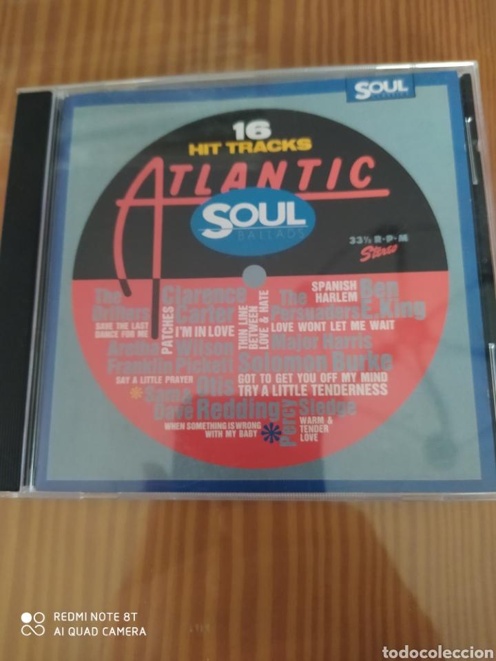 CD MUSICA COMPILACION 16 HIT TRACKS ATLANTIC SOUL (Música - CD's Jazz, Blues, Soul y Gospel)