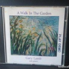 CDs de Música: GARY LAMB A WALK IN THE GARDEN SOLO PIANO CD ALBUM 1987. Lote 206408157