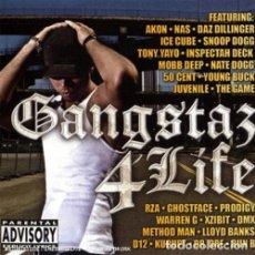 CDs de Música: GANGSTA 4 LIFE - 2 CDS - - OFERTA 3X2 - NUEVO Y PRECINTADO. Lote 206414455