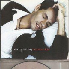 CDs de Música: MARC ANTHONY - ME HACES FALTA (CDSINGLE CAJA PROMO, SONY MUSIC 2002). Lote 206438575