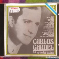 CDs de Música: CARLOS GARDEL (20 GRANDES EXITOS) CD 1984 EDICIÓN ARGENTINA. Lote 206474481