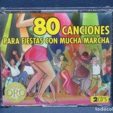CDs de Música: 80 CANCIONES PARA FIESTAS CON MUCHA MARCHA - SERIE ORO VOL.12 - 2 CD. Lote 206475558