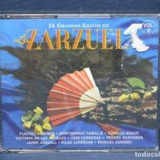 CDs de Música: 24 GRANDES EXITOS DE LA ZARZUELA VOL.2 - 2 CD. Lote 206476438