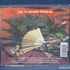 CDs de Música: 24 GRANDES EXITOS DE LA ZARZUELA - 2 CD. Lote 206476620