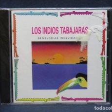 CDs de Música: LOS INDIOS TABAJARAS - 24 MELODIAS INOLVIDABLES - CD. Lote 206478295