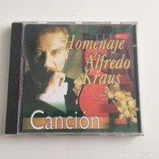 CDs de Música: HOMENAJE A ALFREDO KRAUS - CANCION - ORFEON VIDEOBOX - ALFADELTA - 1999. Lote 206479932
