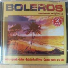 CDs de Música: BOLEROS, VERSIONES ORIGINALES (2CDS). Lote 206485188
