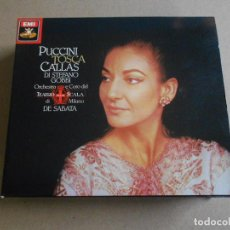 CDs de Música: PUCCINI. TOSCA - DI STEFANO GOBBI. CALLAS. 2 CD + LIBRETO - DE SABATA. TEATRO SCALA - MILAN. Lote 206540200