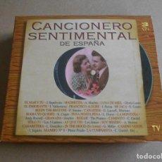 CDs de Música: CANCIONERO SENTIMENTAL DE ESPAÑA - 3 CD - DIVUCSA 1997 - EN CAJA DE CARTON. Lote 206554107