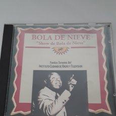"""CDs de Música: BOLA DE NIEVE / """"SHOW DE BOLA DE NIEVE """" FONDOS SONOROS DEL INSTITUTO CUBANO DE RADIO Y TELEVISIÓN. Lote 206755491"""
