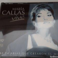 CDs de Música: MARÍA CALLAS VIVE / 2 CDS ORIGINALES / LAS 24 ARIAS QUE CREARON EL MITO. Lote 206759452