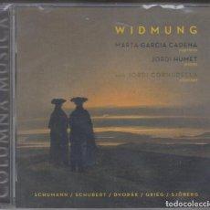 CDs de Música: WIDMUNG CD MARTA GARCÍA JORDI HUMET 2012 SCHUMANN SCHUBERT DVORAK SJOBERG (PRECINTADO). Lote 206817881