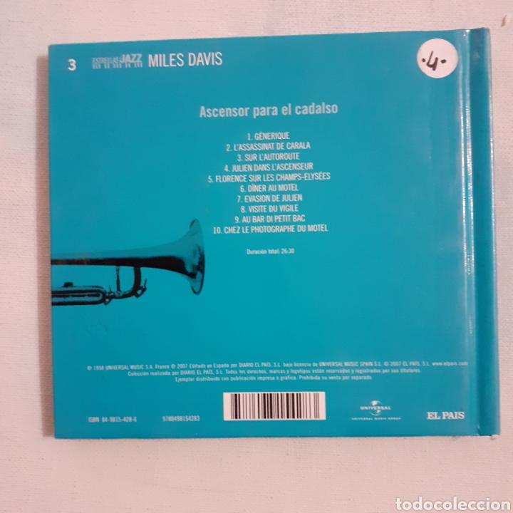 CDs de Música: Miles Davis. Ascensor para el cadalso. BSO. El Pais 2007. No probado. - Foto 2 - 206819447