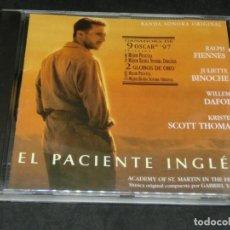 CDs de Musique: CD - EL PACIENTE INGLÉS - 1997 - BANDA SONORA ORIGINAL - GABRIEL YARED - BSO. Lote 206838262
