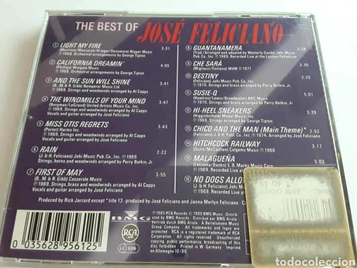 CDs de Música: The best of José Feliciano / cd original - Foto 2 - 206852660