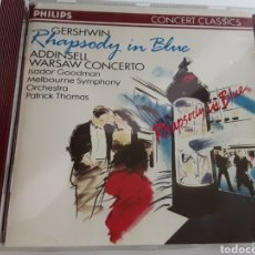 CDs de Música: GERSHWIN RAPSODY UN BLUE , ADDINSELL WARSAW CONCERTO / CONCERT CLASSICS / CD ORIGINAL PHILIPS 1981. Lote 206853120