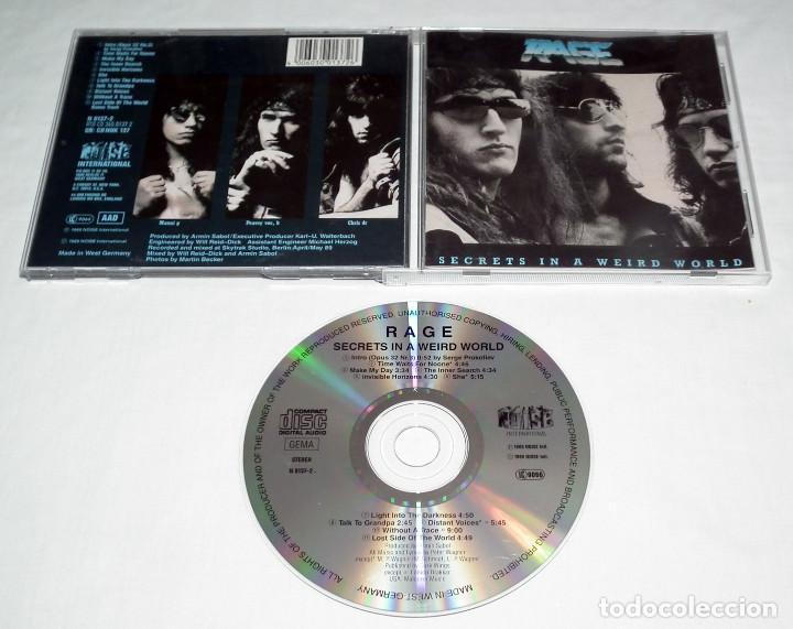 CDs de Música: CD RAGE - SECRETS IN A WEIRD WORLD - Foto 2 - 206863183