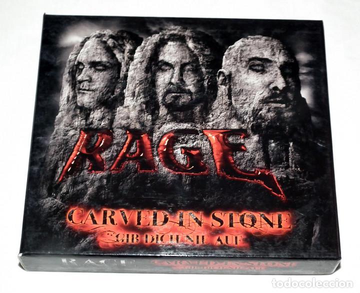 CD BOX RAGE - CARVED IN STONE / GIB DICH NIE AUF (Música - CD's Heavy Metal)