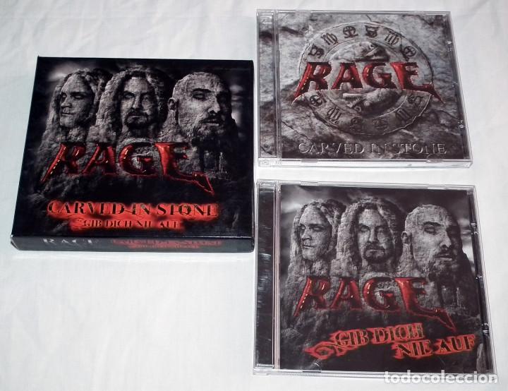 CDs de Música: CD BOX RAGE - CARVED IN STONE / GIB DICH NIE AUF - Foto 4 - 206863852