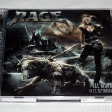 CDs de Música: CD RAGE - FULL MOON IN ST. PETERSBURG. Lote 206864585