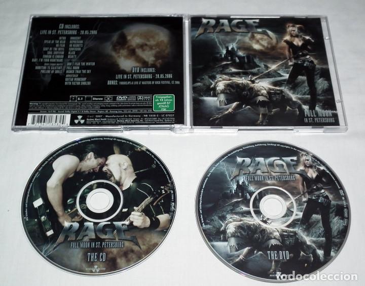CDs de Música: CD RAGE - FULL MOON IN ST. PETERSBURG - Foto 2 - 206864585