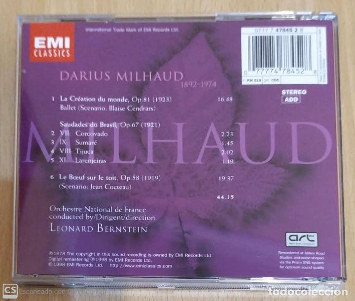 CDs de Música: Milhaud, Orchestre National De France, Leonard Bernstein (La Création Du Monde...) CD 1998 - Foto 2 - 206901335