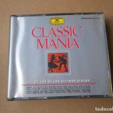 CDs de Música: CLASSIC MANIA - LOS EXITOS DE LOS ULTIMOS SIGLOS - 2 CD - DEUTSCHE GRAMMOPHON -. Lote 206974323