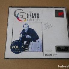 CDs de Música: THE GLENN GOULD EDITION VOL. 5 - BACH - TOCATAS BWV 910 - 916 - 2 CD + LIBRETO - SONY 1994. Lote 206975546