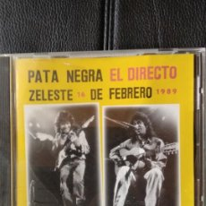 CDs de Música: PATA NEGRA - EL DIRECTO ZELESTE 16 DE FEBRERO 1989. Lote 206984871