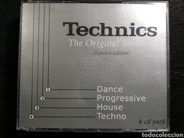 TECHNICS. THE ORIGINAL SESSIONS. 4XCD. MAGNÍFICO ESTADO (Música - CD's Techno)