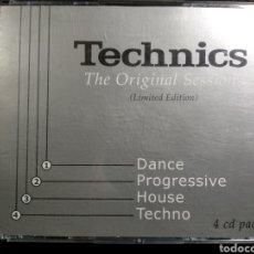 CDs de Música: TECHNICS. THE ORIGINAL SESSIONS. 4XCD. MAGNÍFICO ESTADO. Lote 207010408