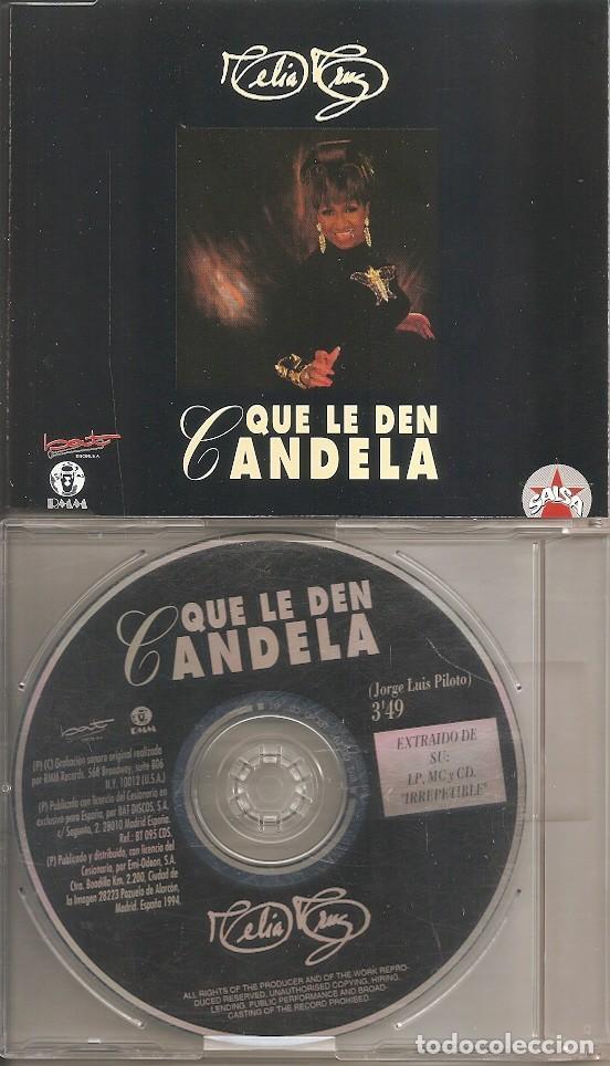 CELIA CRUZ - QUE LE DEN CANDELA (CDSINGLE CAJA, BAT DISCOS 1999) (Música - CD's Latina)