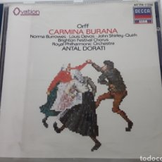 CDs de Música: CARL ORFF / CARMINA BURANA / CD ORIGINAL AÑO 1987. Lote 207084813
