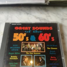 CDs de Música: CD GREAT SOUNDS OF THE 50-60. Lote 207087396