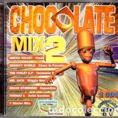 CDs de Música: 2 CD CHOCOLATE MIX 2 - PRODISC CDP-101 - GREEN VELVET - SENSITY WORLD - DJ POSITIVE (VG++/EX)Ç. Lote 207139435