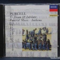 CD di Musica: PURCELL - TE DEUM / FUNERAL MUSIC, ETC - ST JOHN´S CHOIR / GUEST - CD. Lote 207211448