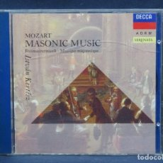 CDs de Música: MOZART, ISTVÁN KERTÉSZ – MASONIC MUSIC - CD. Lote 207218826
