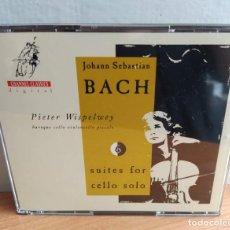 CDs de Música: BACH - PIETER WISPELWEY - SUITES FOR CELLO SOLO (2XCD, ALBUM) (CHANNEL CLASSICS) (D:NM). Lote 207219036