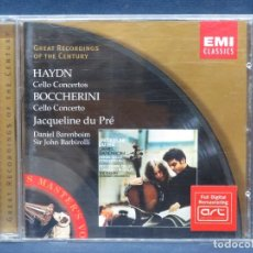 CDs de Música: HAYDN / BOCCHERINI - JACQUELINE DU PRÉ,DANIEL BARENBOIM, SIR JOHN BARBIROLLI – CELLO CONCERTOS - CD. Lote 207219177