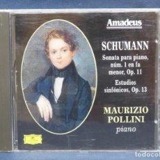 CDs de Música: SCHUMANN - SONATA PARA PIANO Nº1 - MAURIZIO POLLINI - CD. Lote 207221101