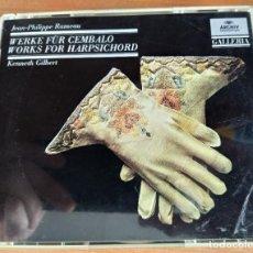 CDs de Música: RAMEAU, KENNETH GILBERT - WERKE FÜR CEMBALO WORKS FOR HARPSICHORD (2XCD) (ARCHIV PRODUKTION) (D:NM). Lote 207221263